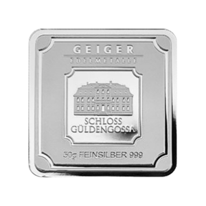 50 gram Geiger Edelmetalle Silver Bar