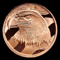 1 oz Silvertowne Eagle Copper Round