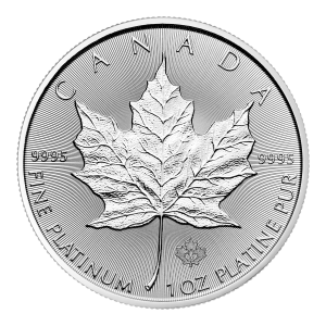 1 oz 2020 Canadian Maple Leaf Platinum Coin