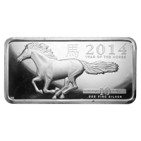 10 oz 2014 Highland Year of the Horse Silver Bar