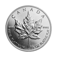 1/2 oz Random Year Canadian Maple Leaf Platinum Coin