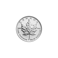 1/10 Random Year Canadian Maple Leaf Platinum Coin