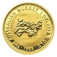 1 oz 1989 Australian Nugget Gold Coin