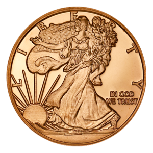 1 oz Silvertowne American Silver Eagle Design Copper Round