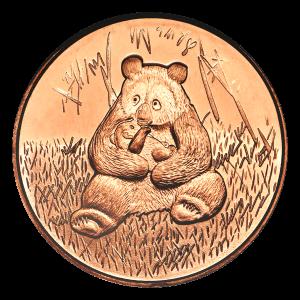 1 oz Silvertowne Panda Copper Round