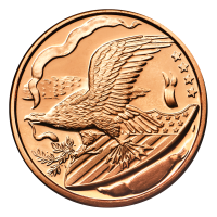 1 oz Silvertowne Eagle on Shield Copper Round