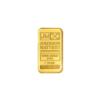 1 gram Johnson Matthey Vintage Gold Bar