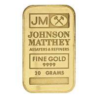 20 gram Johnson Matthey Vintage Gold Bar