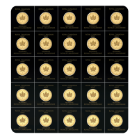 25 gram (25 x 1 g) 2020 MapleGram25 Sheet of Gold Coins