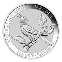 1 oz 2019 Australian Bird of Paradise Silver Coin
