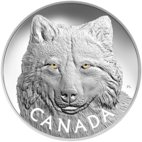 1 kg | Kilo 2017 Royal Canadian Mint In the eyes of the Timber Wolf Silver coin