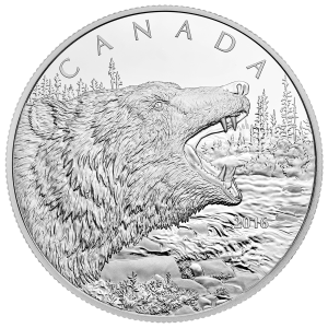 1/2 kg 2019 Royal Canadian Mint Primal Predators |The Grizzly Silver Coin