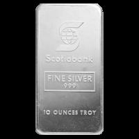 10 oz Johnson Matthey Scotiabank Vintage Silver Bar