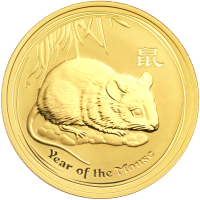 1 oz 2008 Lunar Year of the Mouse Gold Coin