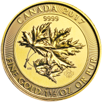 1.5 oz Random Year Canadian Maple Leaf Superleaf Gold Coin