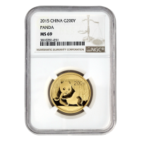 1/2 oz 2015 Chinese Panda NGC MS-69 Gold Coin