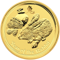 1 oz 2011 Perth Mint Lunar Year of the Rabbit Gold Coin