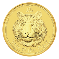 1/2 oz 2010 Perth Mint Lunar Year of the Tiger Gold Coin