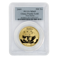 1 oz 2009 Chinese Panda PCGS MS-69 Gold Coin