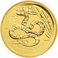 1 oz 2013 Lunar Year of The Snake Gold Coin