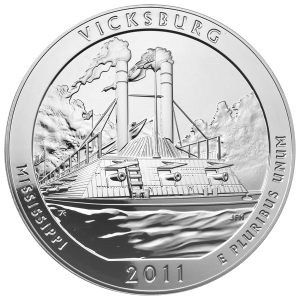 5 oz 2011 America the Beautiful | Vicksburg National Park Silver Coin
