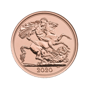 2020 Royal Mint Double Sovereign Gold Coin