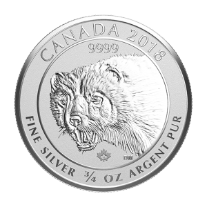 3/4 oz 2018 Canadian Wolverine Silver Coin