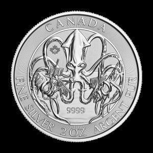 2 oz 2020 Creatures of the North   Kraken Silver Coin