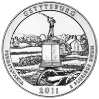 5 oz 2011 America the Beautiful | Gettysburg National Military Park Silver Coin