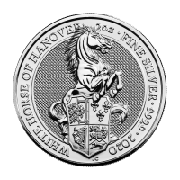 2 oz 2020 Royal Mint Queen's Beasts | White Horse of Hanover Silver Coin