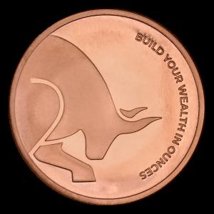 1 oz Silver Gold Bull Copper Round