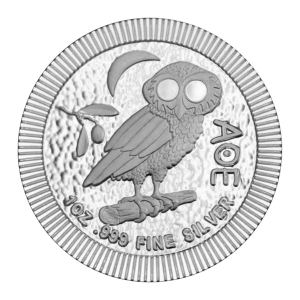 1 oz 2020 Athenian Owl Stackable Silver Coin