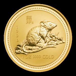 1 oz Goldmünze Jahr der Maus Perth Mint Mondserie 1996