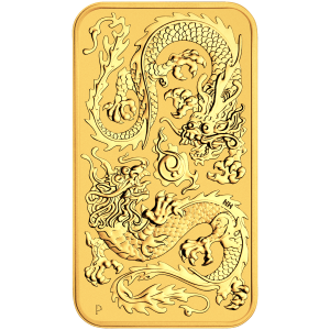 1 oz 2020 Perth Mint Dragon Gold Rectangular Coin