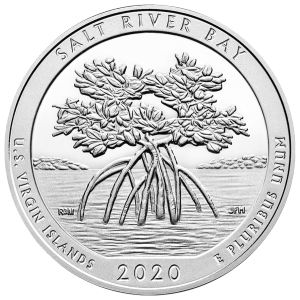 5 oz 2020 America the Beautiful | Salt River Bay, U.S. Virgin Islands silver Coin