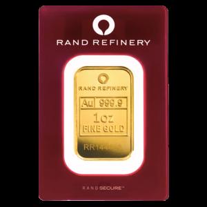 1 oz Rand Refinery Gold Bar | Red Assay Card