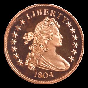 1 oz Silvertowne 1804 Bust Dollar Copper Round