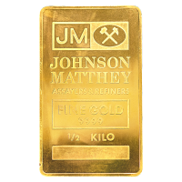 500 gram Johnson Matthey Gold Bar