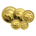 Set of 5 x Random Year Australian Nugget Proof Gold Coins