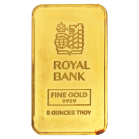 5 oz Johnson Matthey Royal Bank of Canada Gold Bar