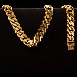 43.0 g 22 kt Curb Style Gold Bracelet