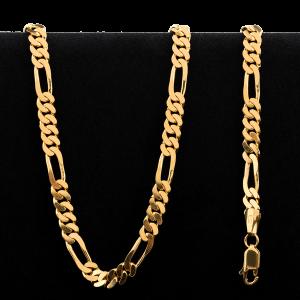 Collier en or 22 carats de style Figarucci de 58,5 grammes