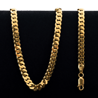75.5 g 22 kt Curb Style Gold Necklace