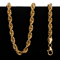 27.5 g 22 kt Twisted Rope Style Gold Necklace