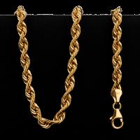 Collier en or 22 carats de style torsadé de 17,5 grammes
