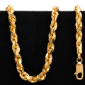 91.0 g 22 kt Twisted Rope Style Gold Necklace