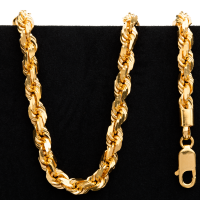 46.5 gram 22 kt Twisted Rope Style Gold Necklace