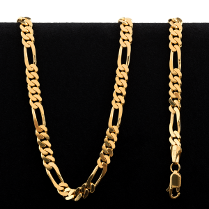 Collier en or 22 carats de style Figarucci de 68,5 grammes
