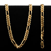 33.5 g 22 kt Figarucci Style Gold Necklace