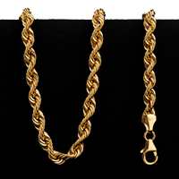18.0 g 22 kt Twisted Rope Style Gold Necklace